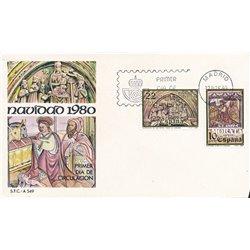 1980 Spanien 2483/2484  Weihnachten Weihnachten Ersttagsbrief  Guter Zustand  (Michel)