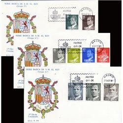 1981 Spanien 2489/2519  Grundlegende. Juan Carlos ich Serie Gene Ersttagsbrief  Guter Zustand  (Michel)
