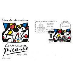 1981 Spanien 2493 Picasso Gemälde Ersttagsbrief  Guter Zustand  (Michel)