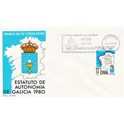 1981 Spanien 2492 Galicien  Ersttagsbrief  Guter Zustand  (Michel)