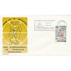 1981 Spanien 2495 Verringerte sich um Wohltätigkeit Ersttagsbrief  Guter Zustand  (Michel)