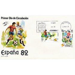 1981 Spanien 2496/2497  Spanien ' 82 Sport Ersttagsbrief  Guter Zustand  (Michel)