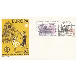 1981 Spanien 2498/2499  Europa Europa Ersttagsbrief  Guter Zustand  (Michel)
