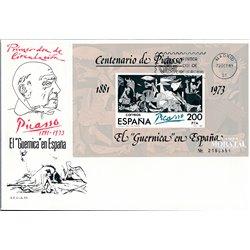 1981 Spanien Block23 Block-Picasso-Guernica Gemälde Ersttagsbrief  Guter Zustand  (Michel)