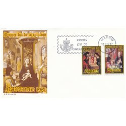 1981 Spain  Sc 2253/2254 Christmas Christmas FDC Nice  (Scott)
