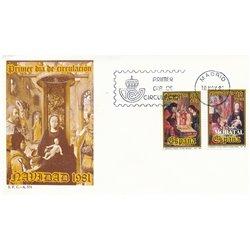 1981 Spanien 2522/2523  Weihnachten Weihnachten Ersttagsbrief  Guter Zustand  (Michel)
