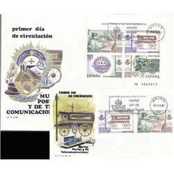 1981 Spain  Sc 2275 Sheet Postal Museum Seals FDC Nice  (Scott)