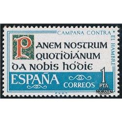1963 Espagne 1175 Faim  **MNH TTB Très Beau  (Yvert&Tellier)
