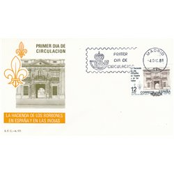 1981 Spain  Sc 2276 Public Treasury Organizations FDC Nice  (Scott)