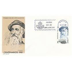 1981 Spanien 2531 Hundertjährigen Persönlichkeiten Ersttagsbrief  Guter Zustand  (Michel)