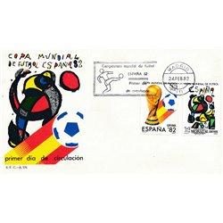 1982 Spain  Sc 2280/2281 Spain'82 Sport FDC Nice  (Scott)
