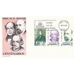 1982 Spanien 2535/2536  Hundertjährigen Persönlichkeiten Ersttagsbrief  Guter Zustand  (Michel)