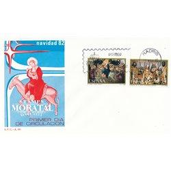 1982 Spanien 2567/2568  Weihnachten Weihnachten Ersttagsbrief  Guter Zustand  (Michel)