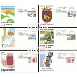1983 Spain  Sc 2314/2315, 2332, 2341/2342, 2345 Autonomies Organisms FDC Nice  (Scott)