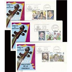 1983 Spanien 2579/2584  Zarzuela (Diptychon) II Musik Ersttagsbrief  Guter Zustand  (Michel)