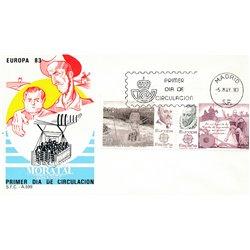 1983 Spanien 2585/2586  Europa Europa Ersttagsbrief  Guter Zustand  (Michel)