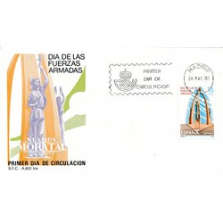 1983 Spain  Sc 2333 Armed forces Military FDC Nice  (Scott)