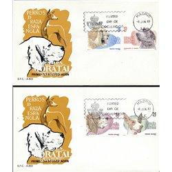 1983 Spanien 2594/2597  Hunde Fauna Ersttagsbrief  Guter Zustand  (Michel)