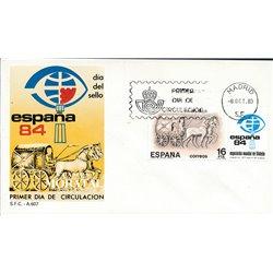 1983 Spanien 2604 Tag der Briefmarke Philatelie Ersttagsbrief  Guter Zustand  (Michel)