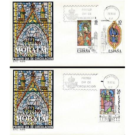 1983 Spanien 2607/2609  Glasmalerei Handwerk Ersttagsbrief  Guter Zustand  (Michel)