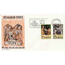 1983 Spanien 2615/2616  Weihnachten Weihnachten Ersttagsbrief  Guter Zustand  (Michel)