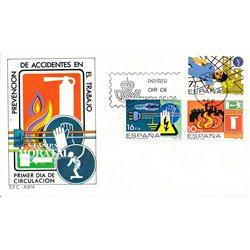 1984 Spanien 2618/2620  Unfälle  Ersttagsbrief  Guter Zustand  (Michel)