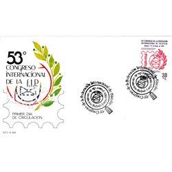 1984 Spanien 2632 Föderation internationale Philatelie Ausstellung Ersttagsbrief  Guter Zustand  (Michel)