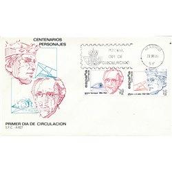 1984 Spanien 2638/2639  Hundertjährigen Persönlichkeiten Ersttagsbrief  Guter Zustand  (Michel)