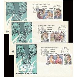 1984 Spanien 2642/2647  Zarzuela (Diptychon) III Musik Ersttagsbrief  Guter Zustand  (Michel)