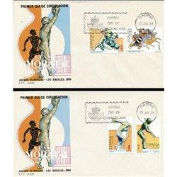 1984 Spanien 2648/2651  J.J.O.O. Angeles Sport Ersttagsbrief  Guter Zustand  (Michel)