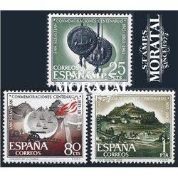 1963 Espagne 1185/1187  Saint-Sébastien  *MH TB Beau  (Yvert&Tellier)