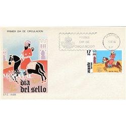 1984 Spanien 2657 Tag der Briefmarke Philatelie Ersttagsbrief  Guter Zustand  (Michel)