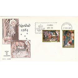 1984 Spanien 2660/2661  Weihnachten Weihnachten Ersttagsbrief  Guter Zustand  (Michel)