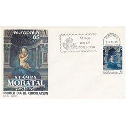 1985 Spanien 2664 Europalia 85 Ausstellung Ersttagsbrief  Guter Zustand  (Michel)