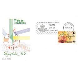 1985 Spanien 2666 Olymphilex Ausstellung Ersttagsbrief  Guter Zustand  (Michel)