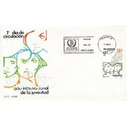 1985 Spanien 2669 Jugend  Ersttagsbrief  Guter Zustand  (Michel)