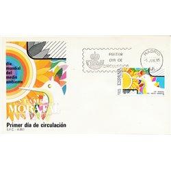 1985 Spanien 2676 Tag der Umwelt Jubiläen Ersttagsbrief  Guter Zustand  (Michel)