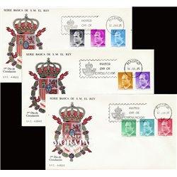 1985 Spanien 2678/2683  Grundlegende. Juan Carlos I (II). Serie Gene Ersttagsbrief  Guter Zustand  (Michel)