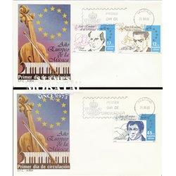 1985 Spanien 2685/2687  Musik Musik Ersttagsbrief  Guter Zustand  (Michel)