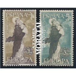 1963 Spanien 1411/1412  Europa Europa * Falz Guter Zustand  (Michel)