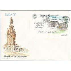 1985 Spanien Block28 Block Exfilna 85 Ausstellung Ersttagsbrief  Guter Zustand  (Michel)