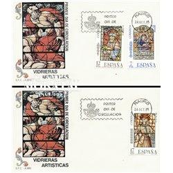 1985 Spanien 2699/2701  Glasmalerei Handwerk Ersttagsbrief  Guter Zustand  (Michel)