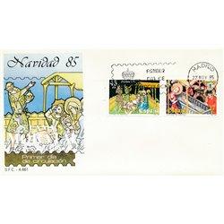 1985 Spanien 2702/2703  Weihnachten Weihnachten Ersttagsbrief  Guter Zustand  (Michel)