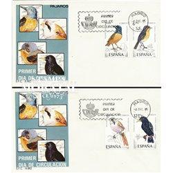 1985 Spanien 2704/2707  Vögel Fauna Ersttagsbrief  Guter Zustand  (Michel)