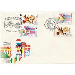 1986 Spanien 2709/2712  E.G. Amtlichen Stellen Ersttagsbrief  Guter Zustand  (Michel)