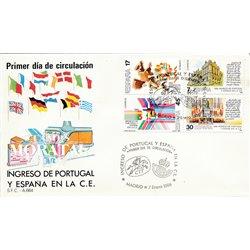 1986 Spanien 0 Carnet C.E.E. Amtlichen Stellen Ersttagsbrief  Guter Zustand  (Michel)