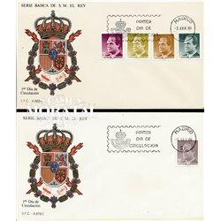 1986 Spanien 2720/2739  Grundlegende. Juan Carlos I (II). Serie Gene Ersttagsbrief  Guter Zustand  (Michel)
