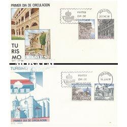 1986 Spanien 2714/2731  Landschaften IV Tourismus Ersttagsbrief  Guter Zustand  (Michel)