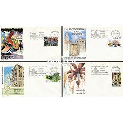 1986 Spanien 2717/2737  Fest III Fest Ersttagsbrief  Guter Zustand  (Michel)