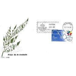 1986 Spanien 2718 Jahr-Frieden Jubiläen Ersttagsbrief  Guter Zustand  (Michel)